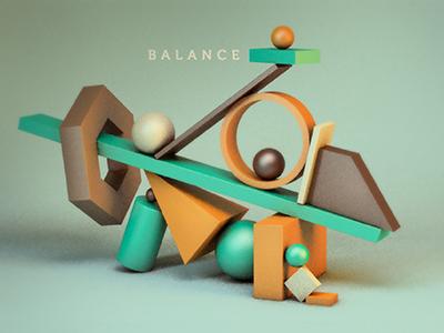 Balancing Totem geometry shapes geometric balance totem cinema4d cinema 3d