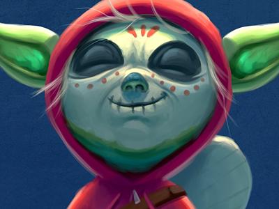 CocoYoda! jedi dia de los muertos cinco de mayo mashup funny cute animation pixar yoda coco star wars character