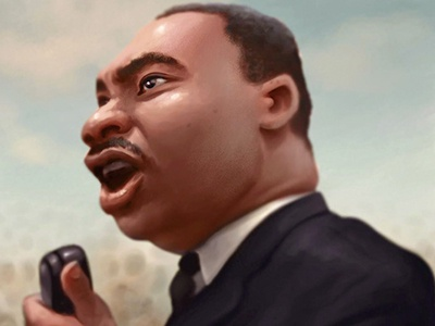 I Have a Dream american history history martin luther king martin luther king jr mlk sketch cartoon character photoshop illustration
