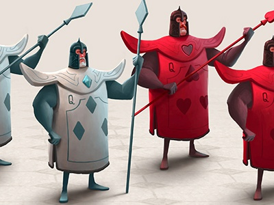 Queen City Characters royal soldier wonderland alice in wonderland mustache beard cartoon character photoshop illustration