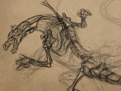 Drawingpaper dragon dribbble
