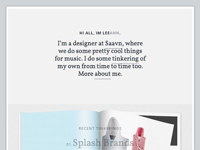 Folio portfolio website design