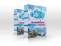 Package Box of Powder with aroma of the Alps for Nebo