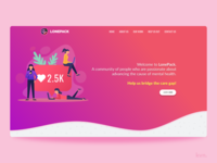 Lonepack - Landing Page Concept
