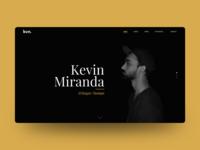 Minimalistic Black & Gold Portfolio Landing Page Concept