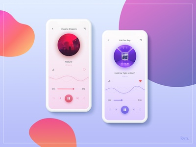 Minimal Music Player App UI