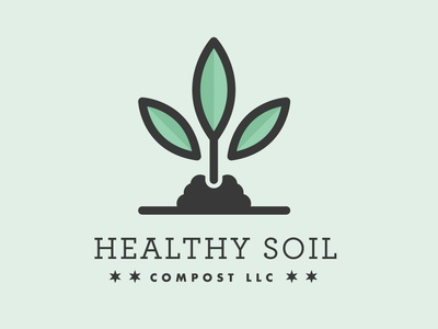 Healthy Soil Compost chicago growth grow compost plant identity branding logo design vector