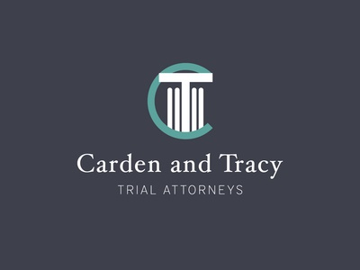 Carden and Tracy logo concept monogram columns identity branding law firm logo mark logo negative space legal