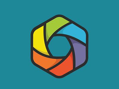 Logo mark exploration pinwheel logo mark design logo mark hexagonal hexagon rainbow logo design logo branding