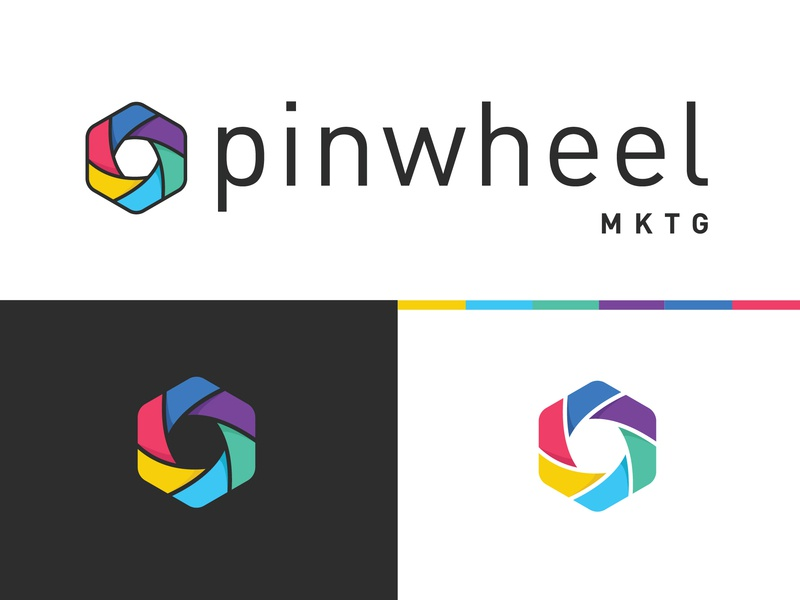 Pinwheel MKTG Logo marketing pinwheel design typography identity logo mark logo vector branding