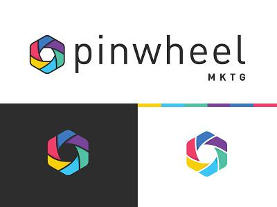 Pinwheel MKTG Logo marketing pinwheel design typography identity logo mark logo vector branding