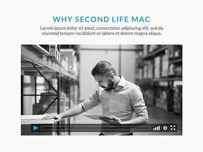 Video Control Design apple mac web  design video ui design