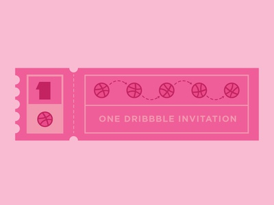 One Invitation dribbble ball vector logo branding dribbble invite giveaway draft dribbble invitation