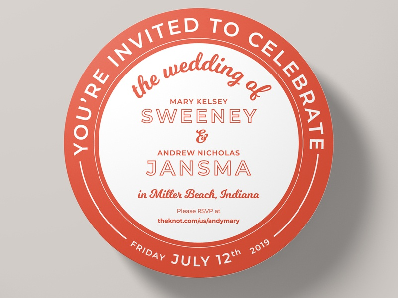My Wedding Invitations typography vector marriage wedding invitation coaster