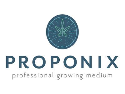 Proponix Logo branding concept identity vector art logo design branding vector cannabis grow cannabis logo cannabis