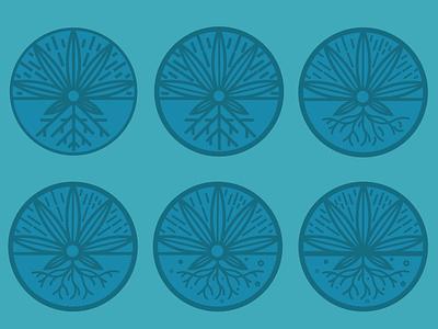 Proponix alternate logo mark explorations logo mark logo growing grow weed blue cannabis marijuana identity branding brand