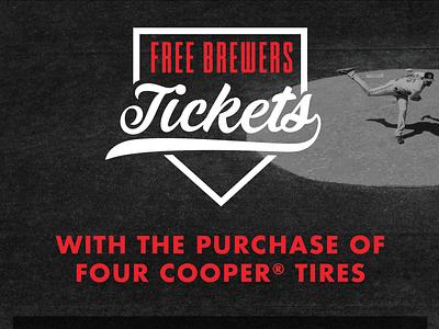 Baseball Promo type design typography vector promo brewers pitcher baseball