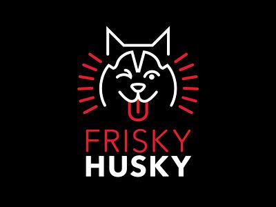 Frisky Husky wink logo dog husky
