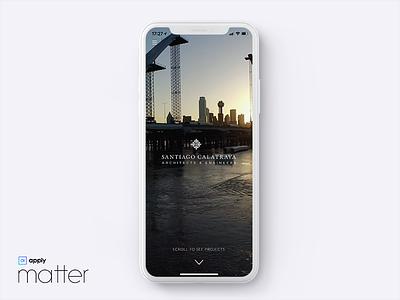 Concept App - Calatrava Arquitecture arquitecture iphonex platform matter ux ui app native