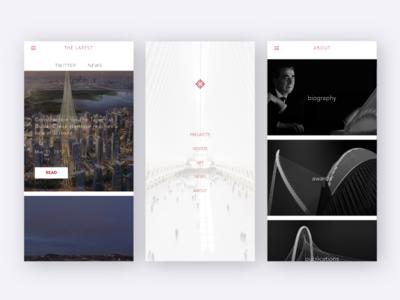 Concept App - Calatrava Arquitecture ux ui platform native matter iphonex arquitecture app