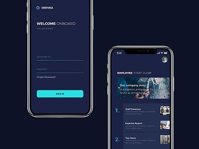 HR Enterprise productive app native applymatter hr software blue digital android ios mobile app enterprise design