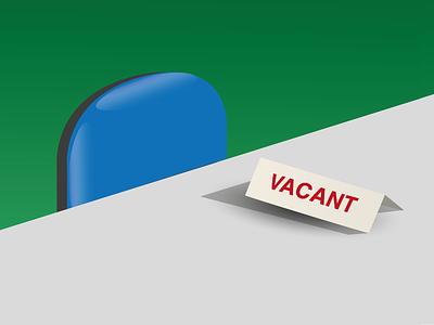 Desk Job illustration office job simple vector
