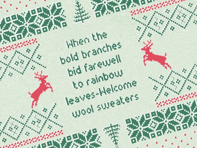 Wooly Sweaters illustration vector xmas winter quote