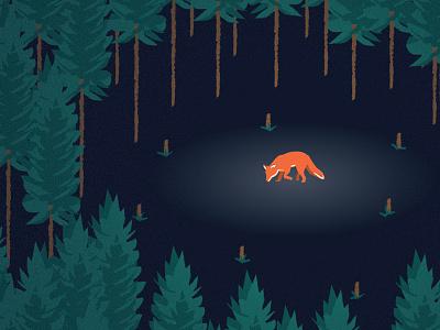 Strange Creatures illustration fox vector