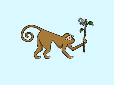 Monkey Selfie monkey selfie illustration