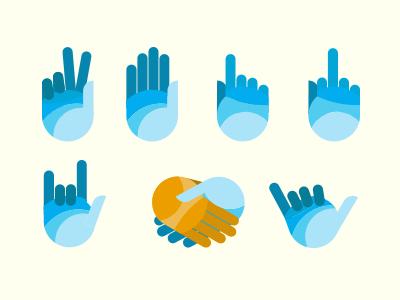 Hand Gestures illustration hands vector