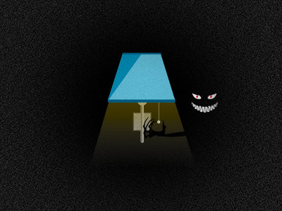 Don't Turn Out The Lights lamp eyes halloween vector illustration