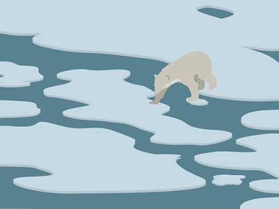 Strange Creatures illustration polar bear bear ice arctic