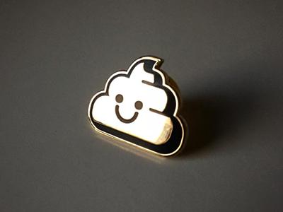 Golden Nugget Pin happy turd poop badge pincommunity pingame pin
