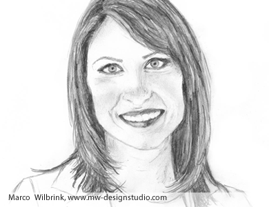 2womanfacepencildrawingmarcowilbrink pencil drawing of front face business woman