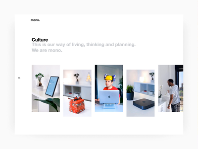 Our culture page awards ux ui vision office illustration slider manifesto minimal webdesign web site landing animation page culture