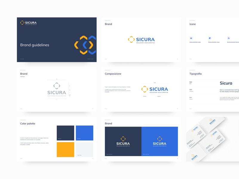 Brand Guidelines for Sicura minimal typedesign logodesign typeface typography secure presentation sicura guidelines symbol logotype logo branding manual brand