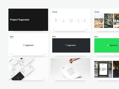 Togenesis Brand typography branding design brand branding logo layout design color web ui startup minimal