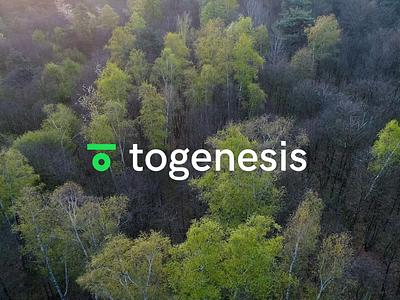 Togenesis Logo typography design web mono startup interaction branding animation logo minimal