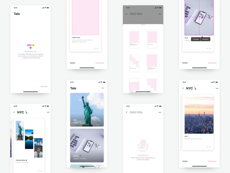 Tale App User Interface product user interface userinterface photography photo branding typography studio design app interface color ux mono layout ui animation startup interaction minimal