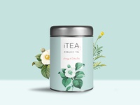 iTea label and logo design