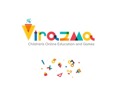 Virazma Logo Design colorful childern education logo kids logo logo graphic design