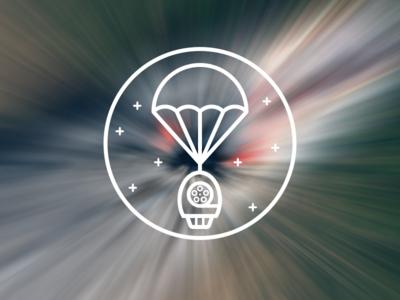 FilmDrop corona badge map satellite parachute logo