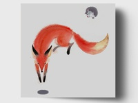 Fox And Mouse Card