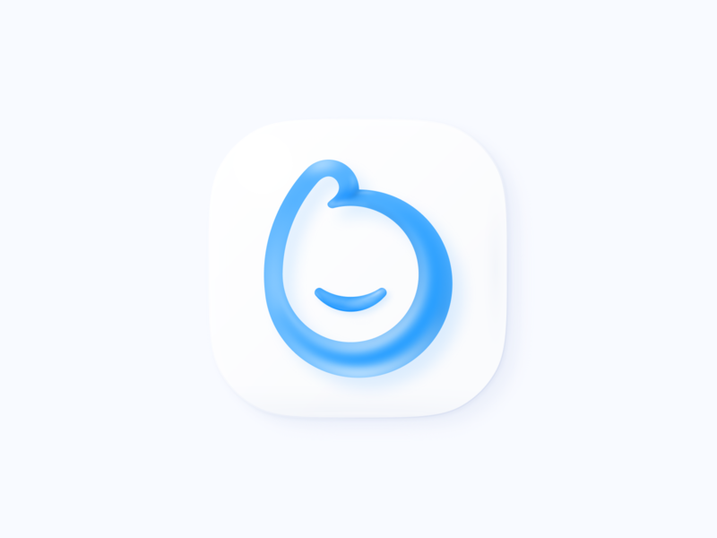 Hope this will be the last shot of all Big Sur icons ✌️ design app sweet icon blue macos baloon vector 3d icon big sur illustration branding logo