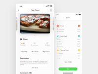Food app for Adobe xd