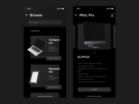 Dark Theme E-Commerce App Concept