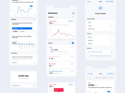 Health App UI Kit - Freebie