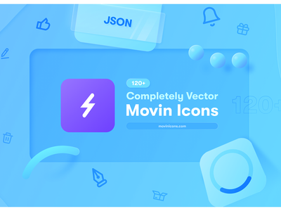 Movin Icons 2 Presentations icons interface animation movin icons motion lottie icon pack animated icon icon