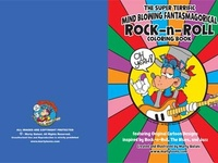 Rock and Roll Coloring Book Cover