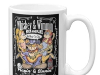 Whiskey & Wimmin Blues Rock Inspired Design